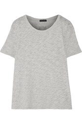 Atm Anthony Thomas Melillo Boyfriend Slub Cotton Jersey T Shirt Light Gray