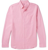 J.Crew Slim Fit Button Down Collar Cotton Oxford Shirt Pink