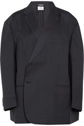 Vetements Brioni Oversized Wool Blazer Navy