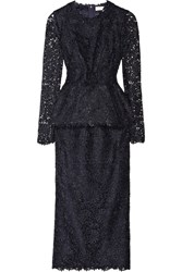 Stella Mccartney Dixie Macrame Lace Two Piece Dress Blue