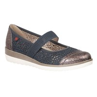 Lotus Relife Timour Mary Jane Flats Navy