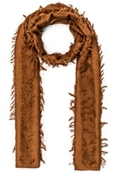 Chloe Fil Coupe Stripe Scarf In Brown