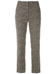 Egrey Printed Straight Fit Trousers Marinho