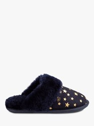 Just Sheepskin Duchess Slippers Navy Star