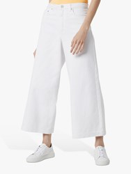 French Connection Reem Denim Culotte Jeans Summer White