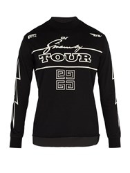 Givenchy Tour Print Cotton Long Sleeved T Shirt Black