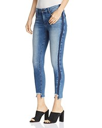 Parker Smith Twisted Seam Cropped Skinny Jeans In Ocean Side