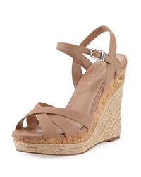 Charles By Charles David Astro Leather Wedge Sandal Nude