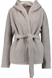 James Perse Fleece Hooded Jacket Stone