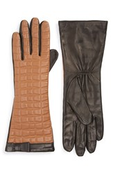 Women's Kate Spade New York Bow Quilted Leather Gloves Camel