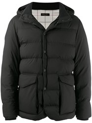 Loro Piana Hooded Padded Jacket Black