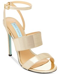 Blue By Betsey Johnson Jenna Strappy Evening Sandals Women's Shoes Gold