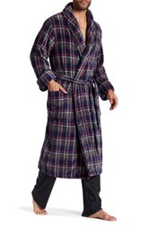 Tommy Bahama Printed Plush Long Sleeve Robe Blue