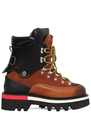 Dsquared 50Mm Suede And Nylon Hiking Boots Tan