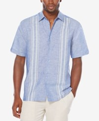 Cubavera Men's Big And Tall Striped Panel Shirt Surf The Web
