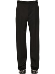 Balenciaga Tailored Virgin Wool Gabardine Pants Black