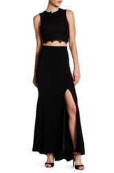 Theia Slit Maxi Skirt Black