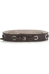 Jimmy Choo Bella Snake Effect Embossed Leather Belt