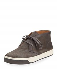 Vince Abe 2 Suede Chukka Sneaker With Leather Trim Gray