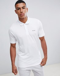 Nicce London Polo Shirt In White With Small Logo