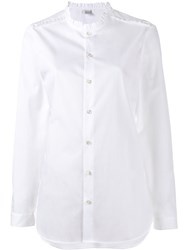Marie Marot Frill Trimmed Diana Shirt White