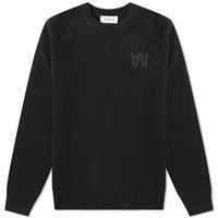 Wood Wood Kevin Crew Knit Black