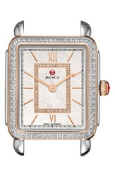 Michele Women's 'Deco Ii' Diamond Dial Watch Case 26Mm X 27 1 2Mm