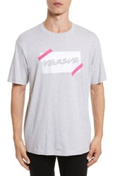Versus By Versace 'S Tape Logo Graphic T Shirt Grey