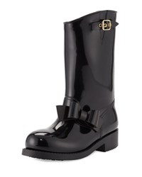 Red Valentino Mid Calf Rain Boot With Bow 0No