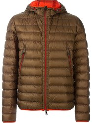 Moncler Hooded Padded Jacket Brown