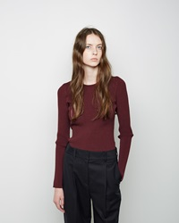 Opening Ceremony Vertical Stitch Crewneck Beet