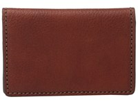 Bosca Washed Collection Gusseted Card Case Cognac Credit Card Wallet Tan