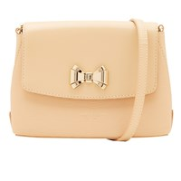 Ted Baker Tessi Curved Bow Leather Across Body Bag Taupe