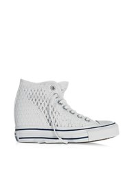 Converse Limited Edition All Star Mid Lux White Crochet Canvas Wedge Sneaker
