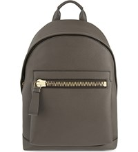 Tom Ford Buckley Leather Backpack Slate