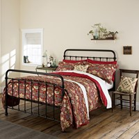 Morris And Co Strawberry Thief Duvet Cover Crimson Super King