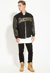 Forever 21 Jh Design Reversible Lakers Jacket Black Yellow