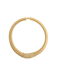 Christian Dior Vintage 1980S 18Kt Gold Plated Brass Collar Necklace