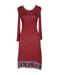 Custo Barcelona Short Dresses Maroon