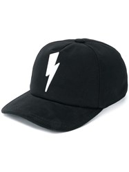 149fa5522bb Neil Barrett Lightning Bolt Hat Black