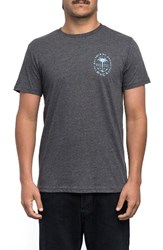 Rvca Men's Anchor Palm Graphic T Shirt