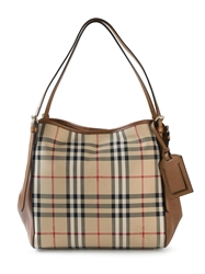 Burberry 'House Check' Shoulder Bag Nude And Neutrals