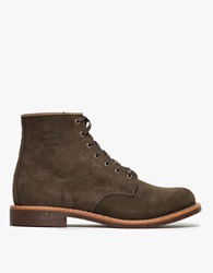 Chippewa 6' Suede Utility Boot Chocolate Moss