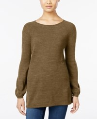 Styleandco. Style Co. Petite Boat Neck Swing Sweater Only At Macy's Salty Caramel