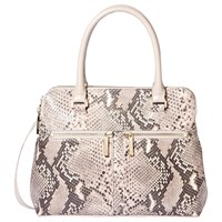 Modalu Pippa Small Leather Grab Bag Grey Snake