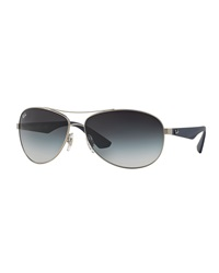Wire Frame Metal Sunglasses Antique Silver Ray Ban
