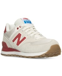 New Balance Women's 574 Retro Sport Casual Sneakers From Finish Line Sea Salt Chinese Red