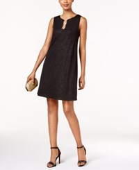 Msk Embellished Shift Dress Black