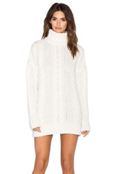 Anine Bing Chunky Cable Knit Sweater Ivory