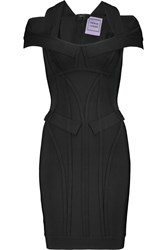 Herve Leger Cutout Bandage Mini Dress Black